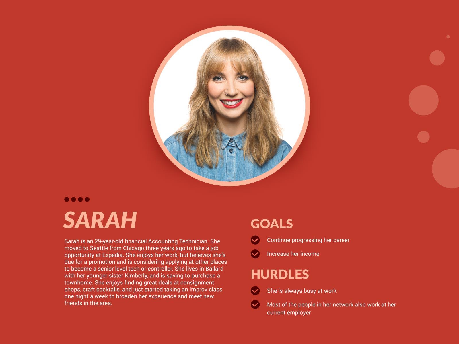 sarah user persona