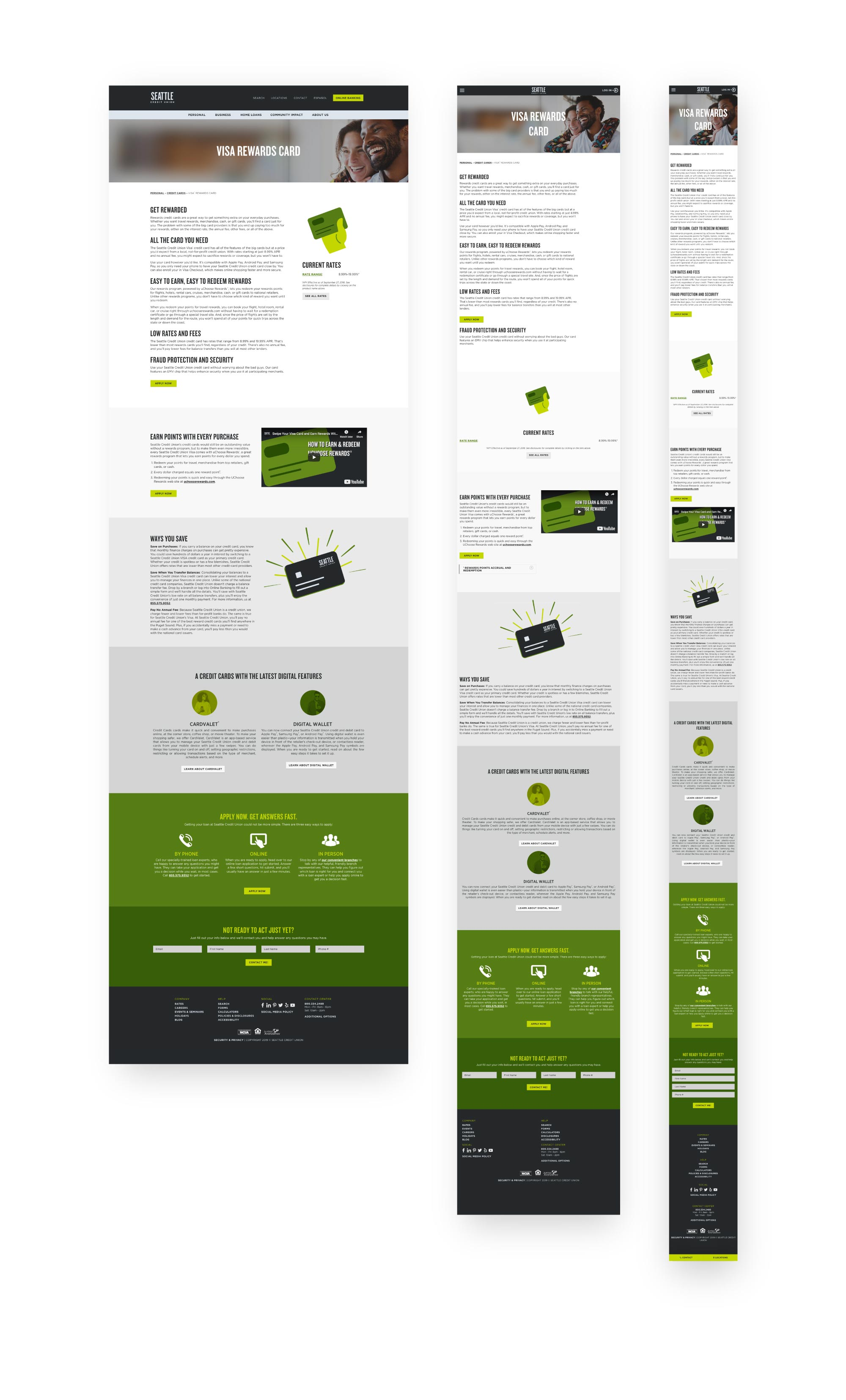 High fidelity product pages
