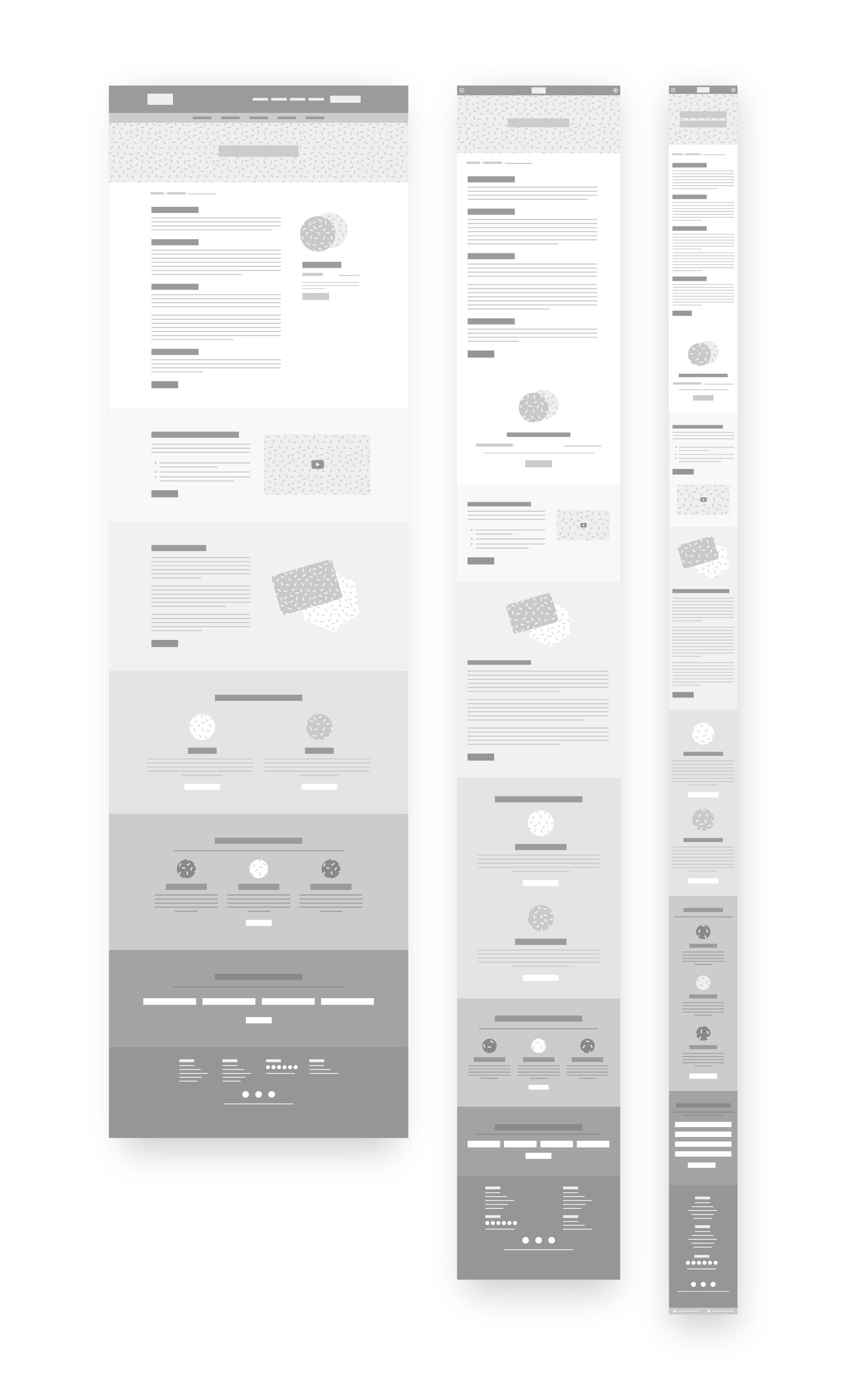 medium fidelity product page